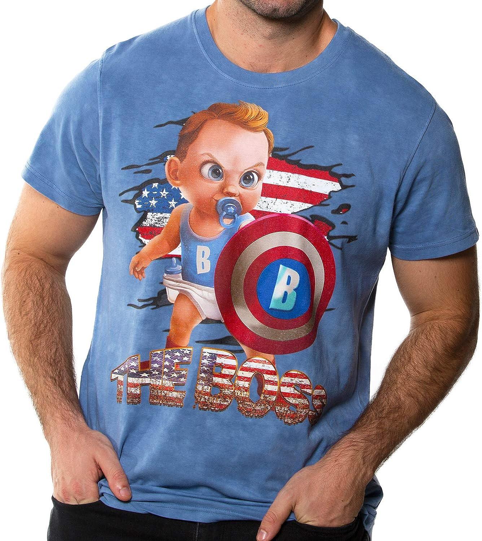 BLAICER Camiseta Capitán América Bebé para Hombre de Manga Corta con Cuello Redondo - T Shirt Superhéroes Vengadores con Efecto Tie Dye (M): Amazon.es: Ropa y accesorios