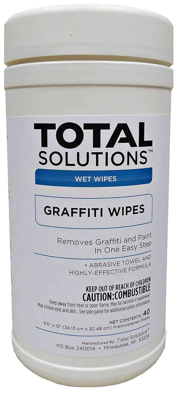 グラフィティWipes、Removesペイント&簡単なステップでグラフィティ – 6容器1ケース(40 Wipes perキャニスター) B078SZPLCZ
