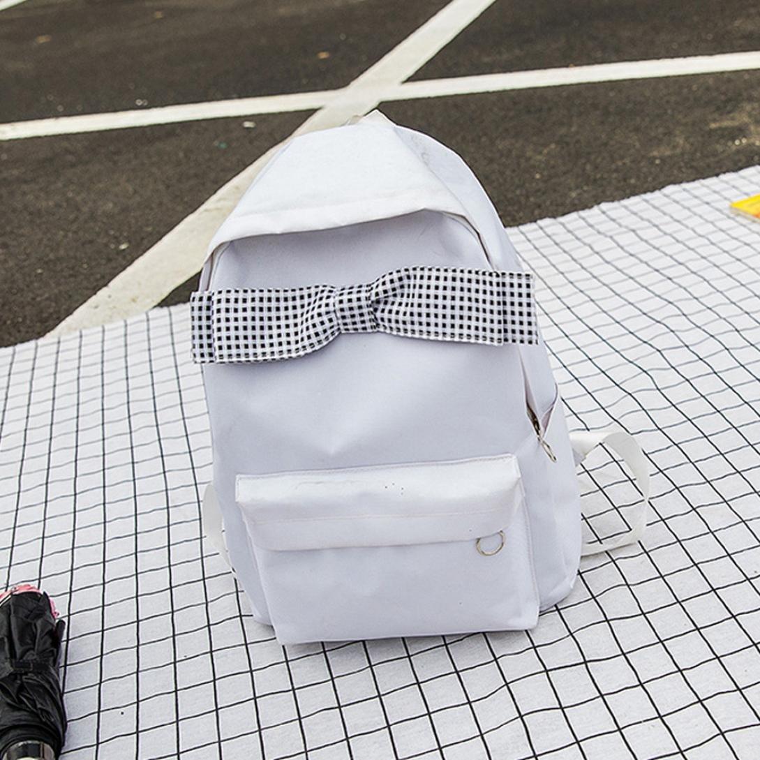 08bee549bced Amazon.com: MaxFox Girls School Shoulder Bag Canvas Bow Student ...