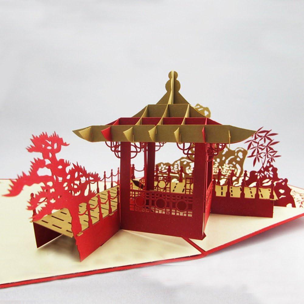 FiedFikt Tarjeta de felicitación 3D, tarjetas Pop,árbol de la ...