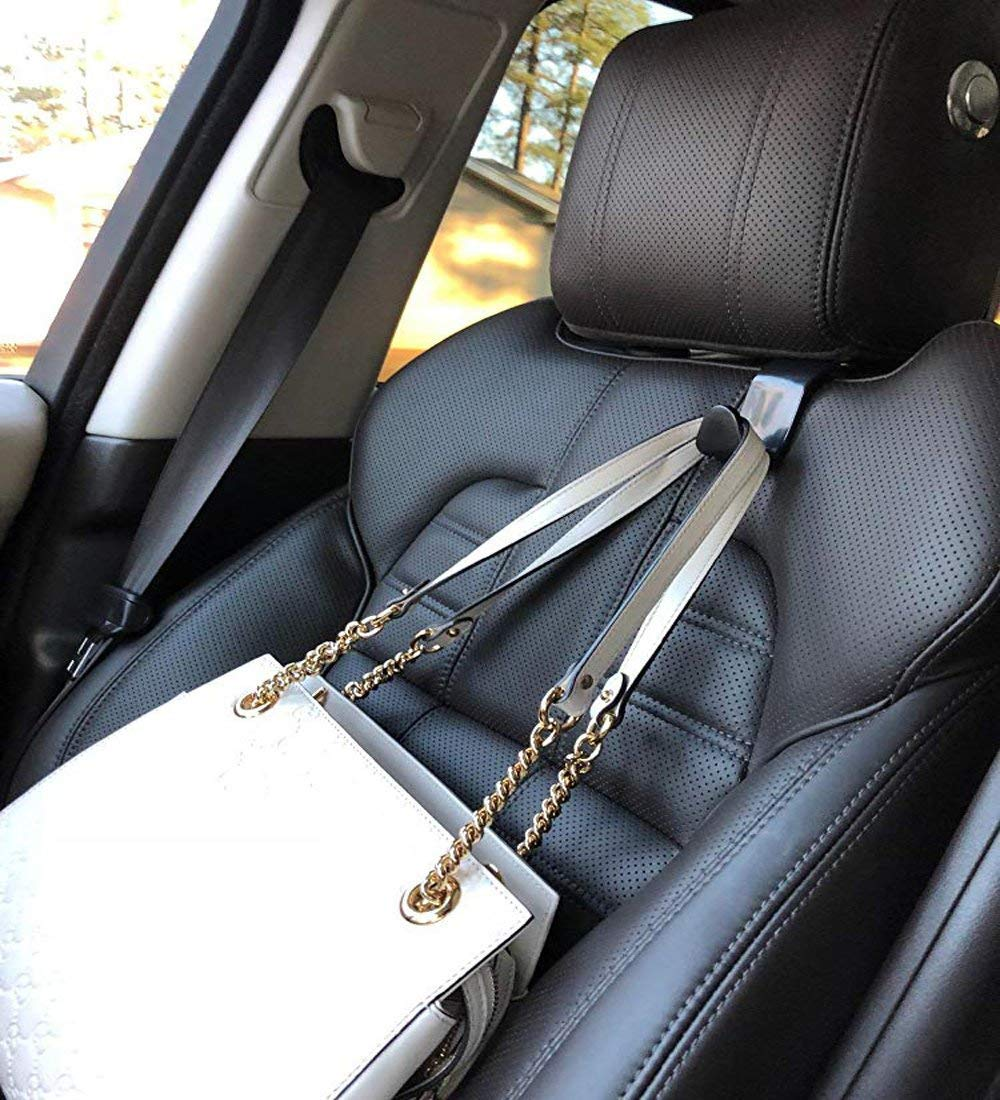 and Grocery Bags Universal Vehicle Car Seat Back Headrest Bottle Holder Coats Palytte 4 Pack Car Seat Headrest Hooks Strong and Durable Backseat Headrest Hanger Storage for Handbags Purses