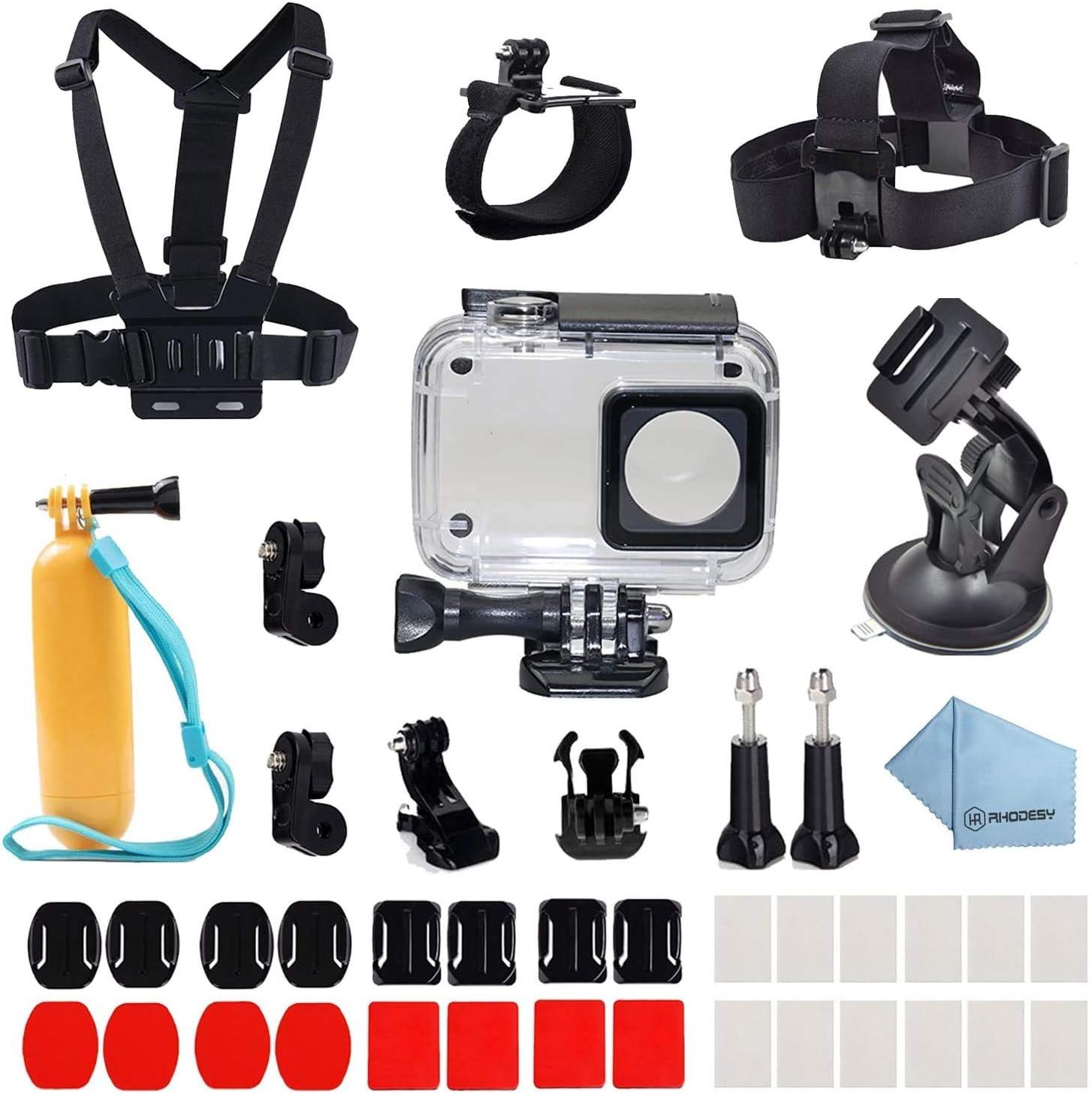 Paquete de accesorios de carcasa protectora impermeable 41 en 1 Rhodesy para cámara de acción