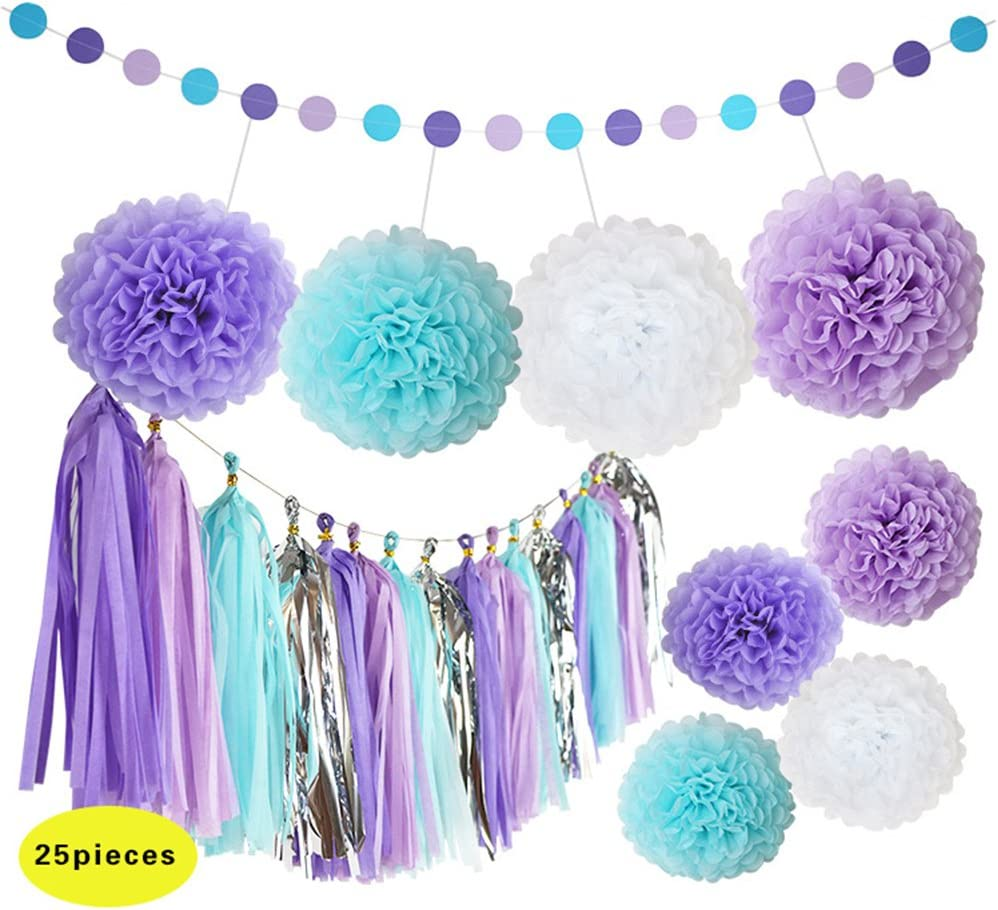 Frozen tassel garland various lengths