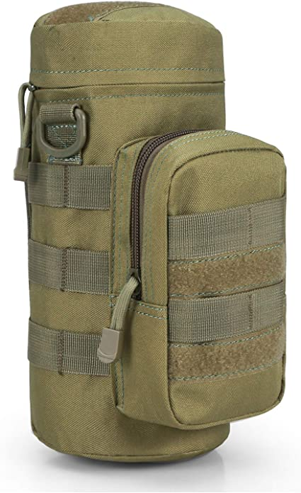 Outdoor Tactical Water Bottle Military Pouch Holder Carrier Molle Kettle Bags