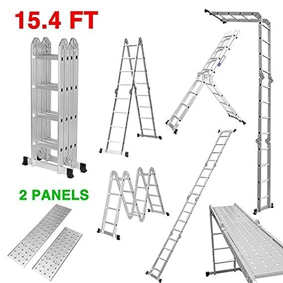 Manufactured to EN131 Specifications GABZ Multi Purpose Aluminium Folding Ladder 4.7M Ladder with Platforms