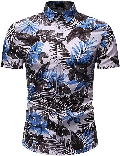 Camisa Hawaiana clásica de Manga Corta para Hombre, Estilo Informal, con Botones: Amazon.es: Ropa y accesorios