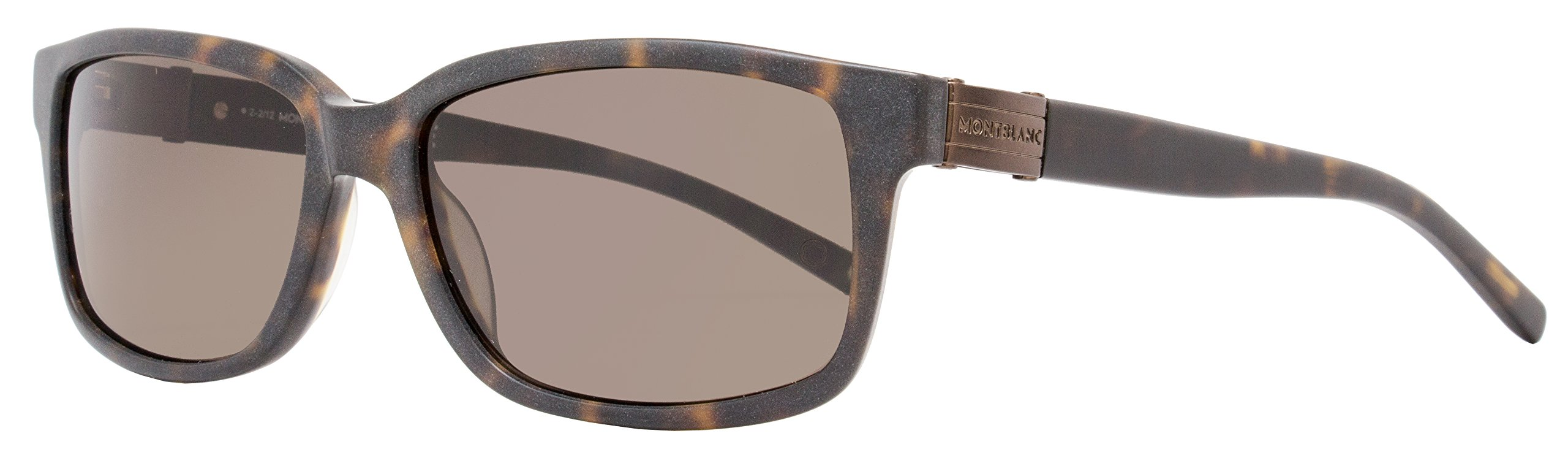 Mont Blanc MB405S5852J Wayfarer Sunglasses,Dark Havana,58 mm by MONTBLANC