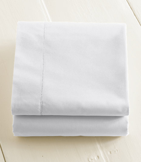 280-Thread-Count Pima Cotton Percale Sheet, Flat | Size: King, Color: White