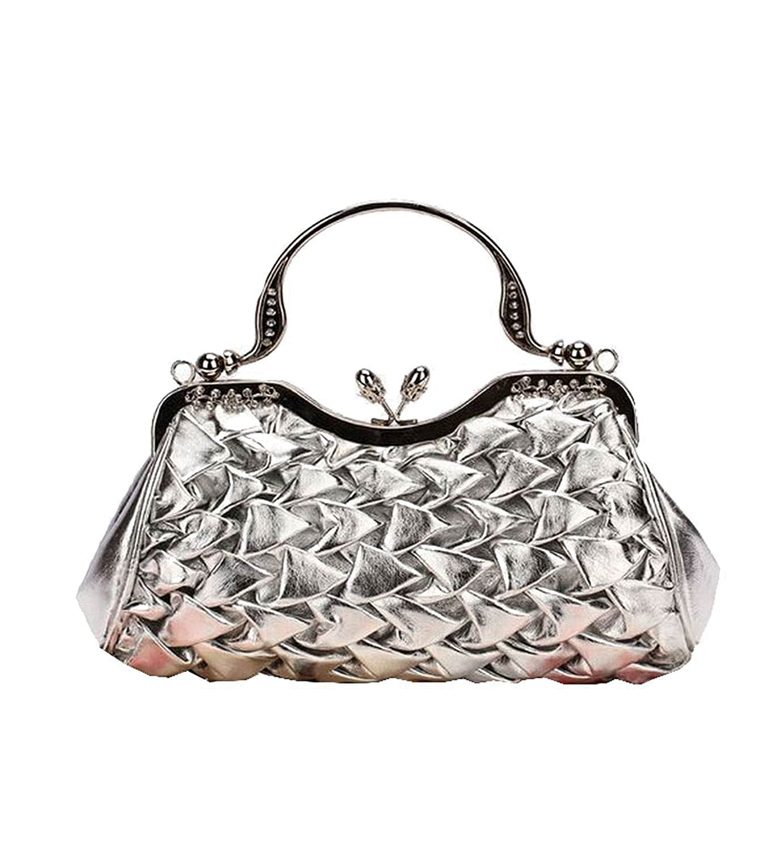 Lunas Clutch Purse Women Beaded Crystal Evening Clutch Bags