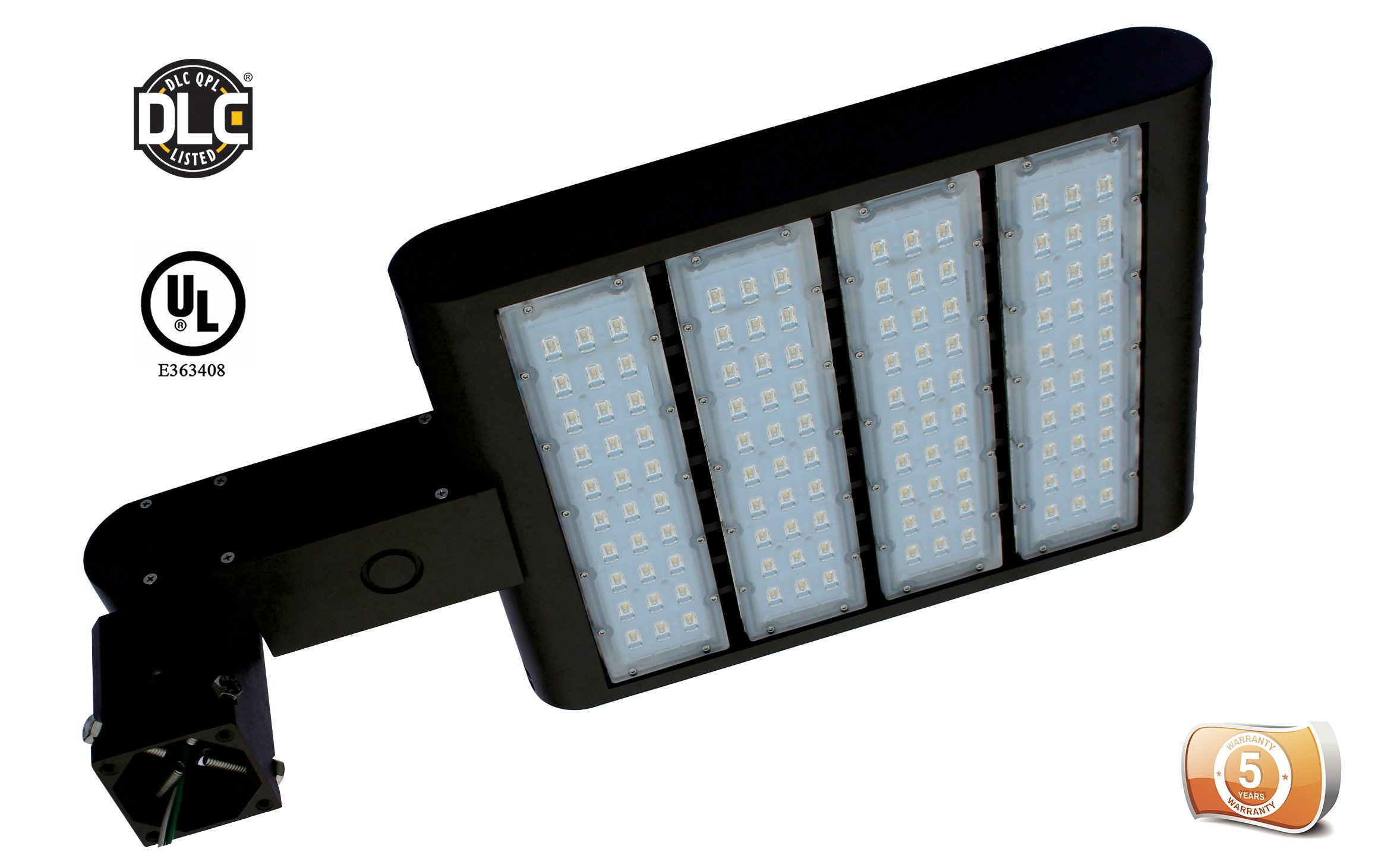 DLC-Listed LEDrock 300 Watt LED Exterior Area Light, 4000K Neutral White, 120V-277V, Comparable to 1,000W MH, 30,857 Lumens, Slipfitter Mount Area Light, UL, Warranty Based in Denver, CO, USA by LEDrock