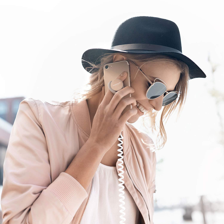 Compatible con Smartphones y tabletas Ideal para Coche VONM/ÄHLEN Backflip Anillo para m/óvil con Soporte en Blanco- Sostenedor de Dedo Universal con im/án