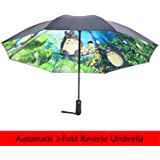 Madehappy Black Ghibli Totoro Umbrella Women Anime Sun Umbrella Parasol Female Plegable Sombrillas Paraguas Guarda Chuva