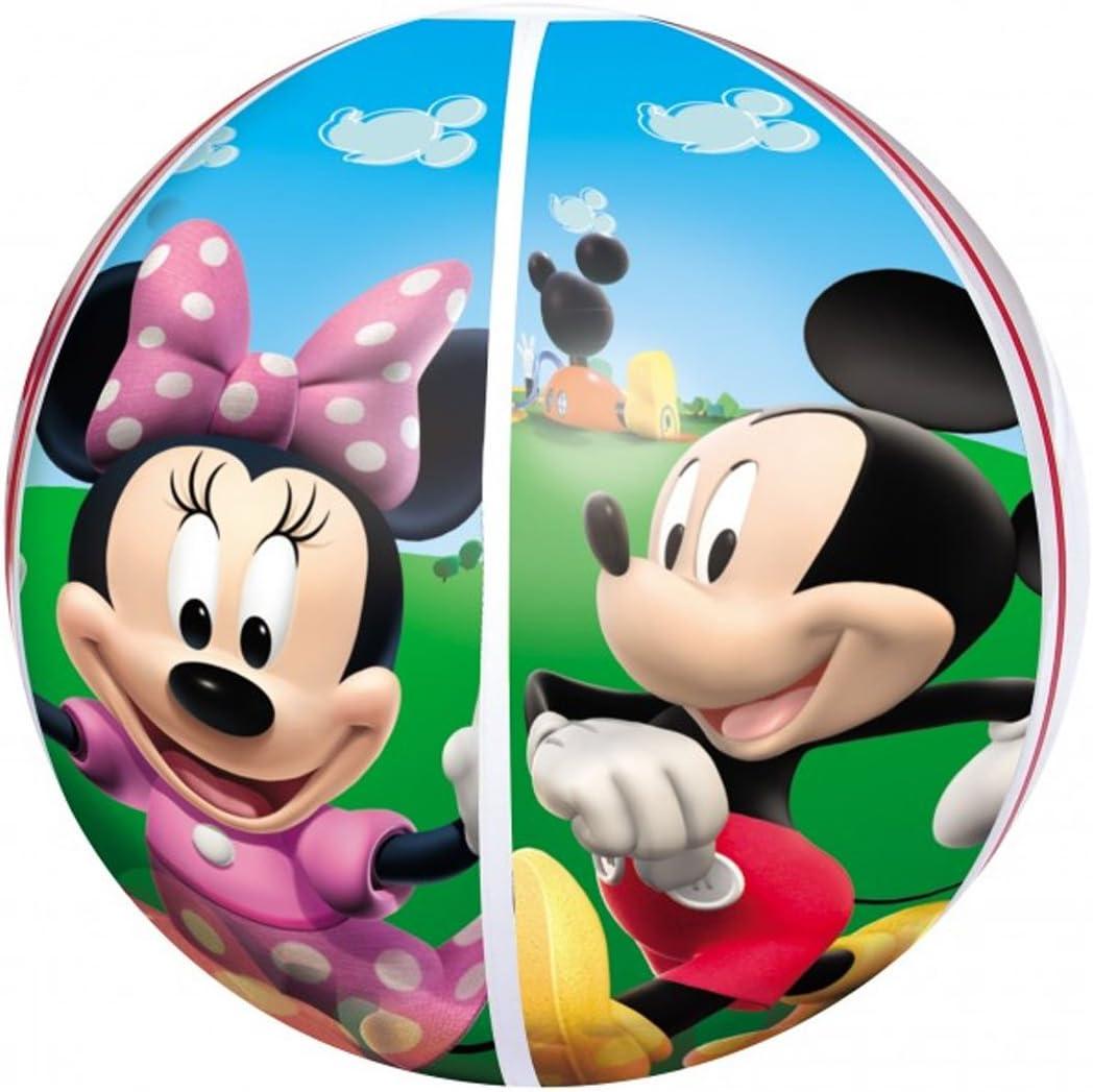 Disney Pelota de Playa Hinchable Mickey y Minnie 51 cm: Amazon.es ...