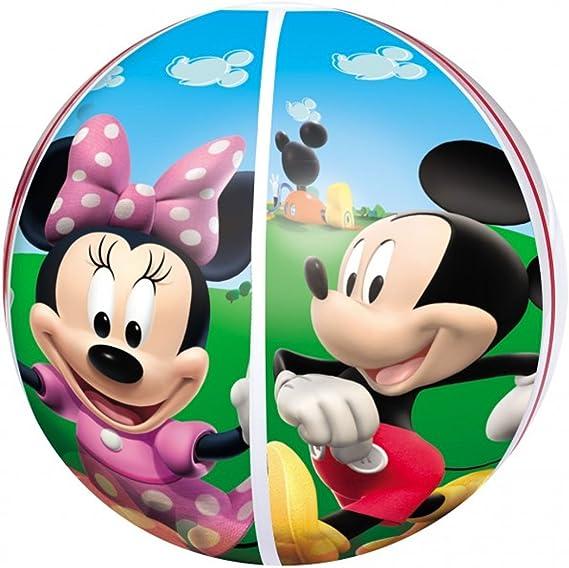 Disney Pelota de Playa Hinchable Mickey y Minnie 51 cm: Amazon.es: Hogar