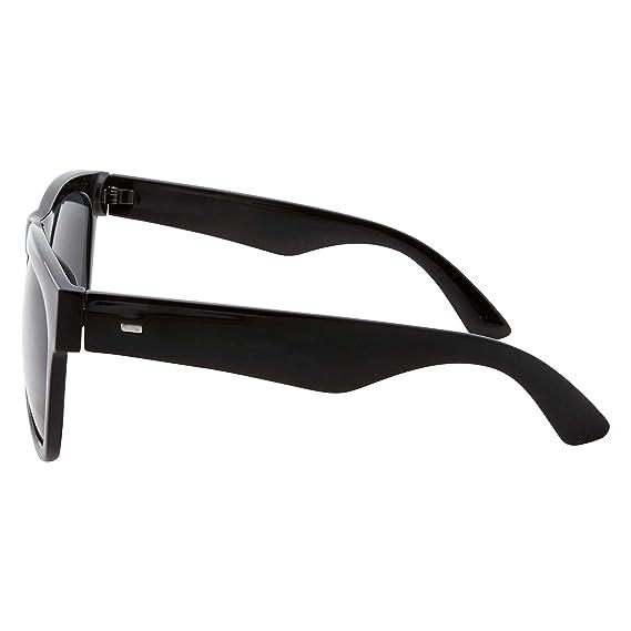 e1c326db5ecc7 Amazon.com  XL Men s Big Wide Frame Black Sunglasses - Oversized Thick  Extra Large Square (Matte Black)  Clothing