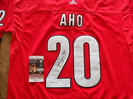 buy online b7076 3abb5 Sebastian Aho Autographed Signed Carolina Hurricanes Jersey ...