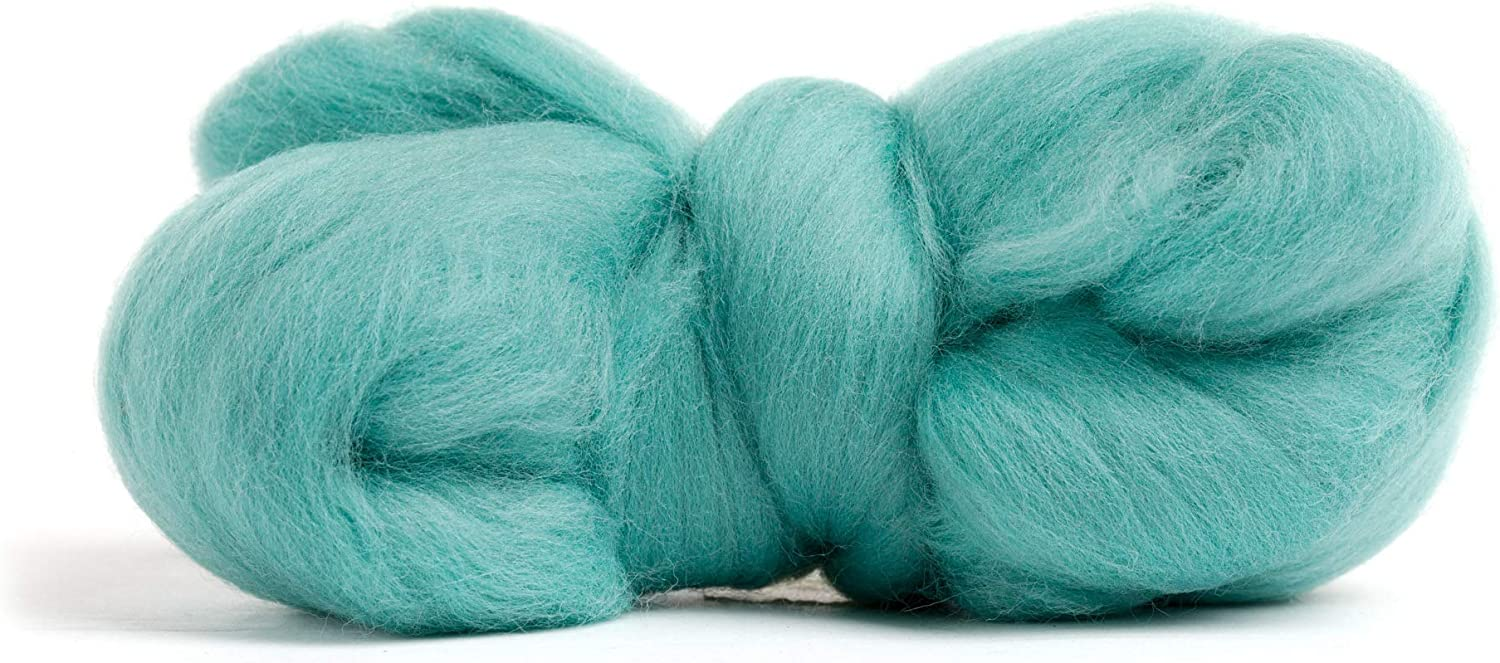 Merino Wool Roving 21 Micron 100/% Pure Wool Color Peacock Blue Perfect for Felting Projects Premium Combed Top Made in The UK
