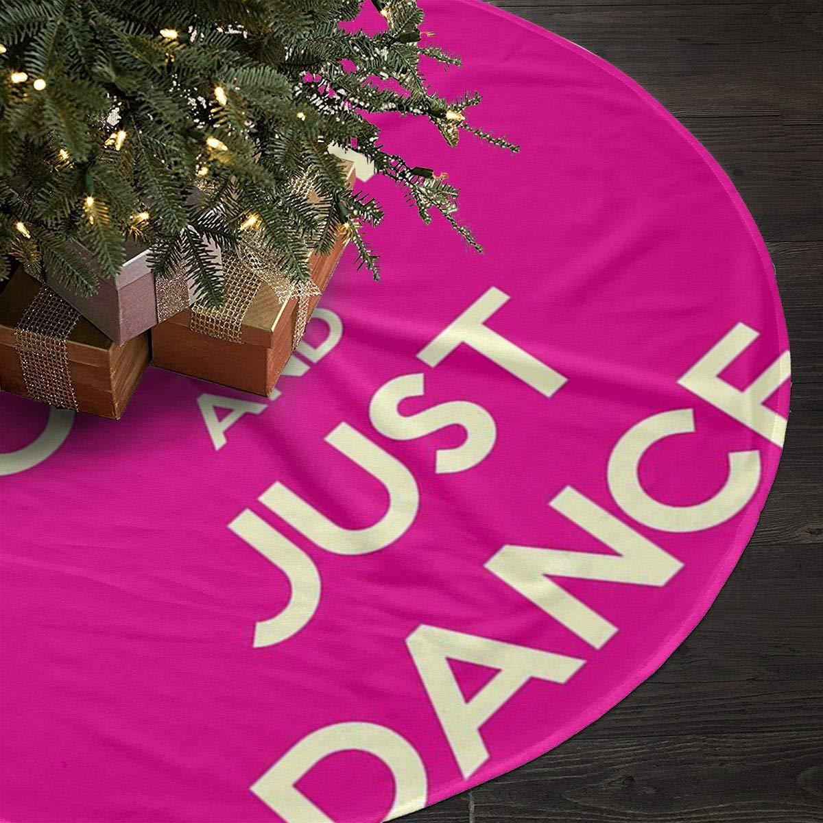 Amazon.com: HIFJDNM Christmas Tree Skirt with Keep Calm and Just ...