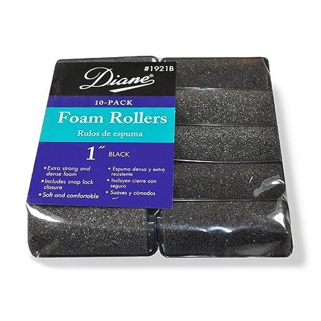 Amazon.com: Diane rodillos de espuma, negro, 1
