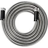 BEAULIFE Short Metal Stainless Steel Garden Hose 10 Feet Drinking Rv Water Hose Dehumidifier Drain Hose Connector…