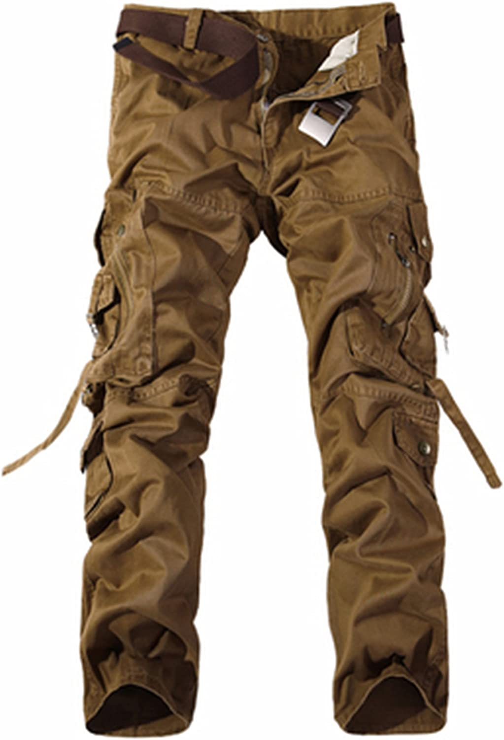 New Men Cargo Pants Army Green Big Pockets Decoration Mens Casual Trousers Easy wash