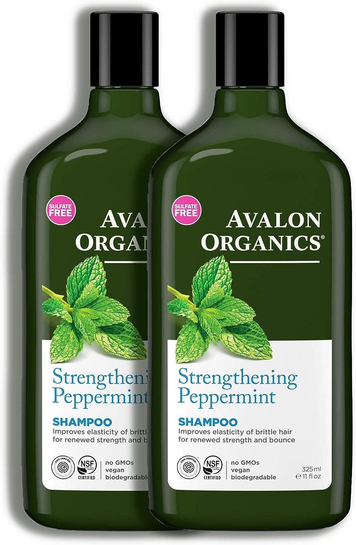 Avalon Organics menta Champú Revitalizante 325ml Pack de 3: Amazon ...