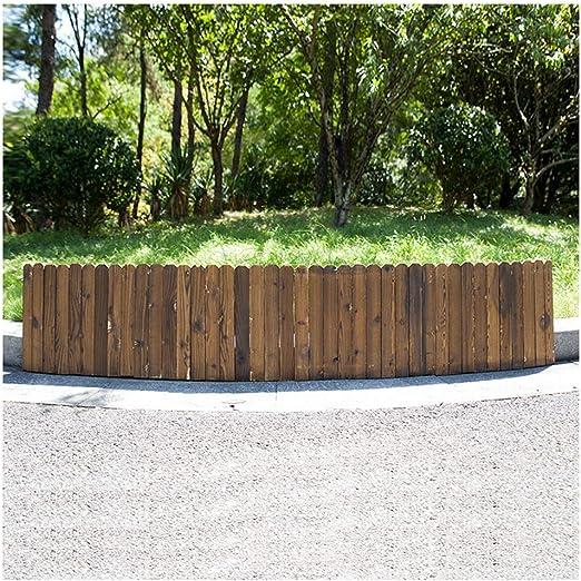 ZHANWEI Valla de jardín Bordura de jardín Al Aire Libre Jardinería Carbonización Madera Maciza Cama De Flores Paisaje Cenefa Decoración, 4 Tamaños (Color : 1 PC, Size : 100x30cm): Amazon.es: Jardín