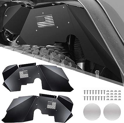 Yoursme Front /& Rear Inner Fender Liners Flares for 2007-2018 Jeep Wrangler JK 4WD /& 2WD Off-Load Style Black Aluminum Lightweight Splash Guards