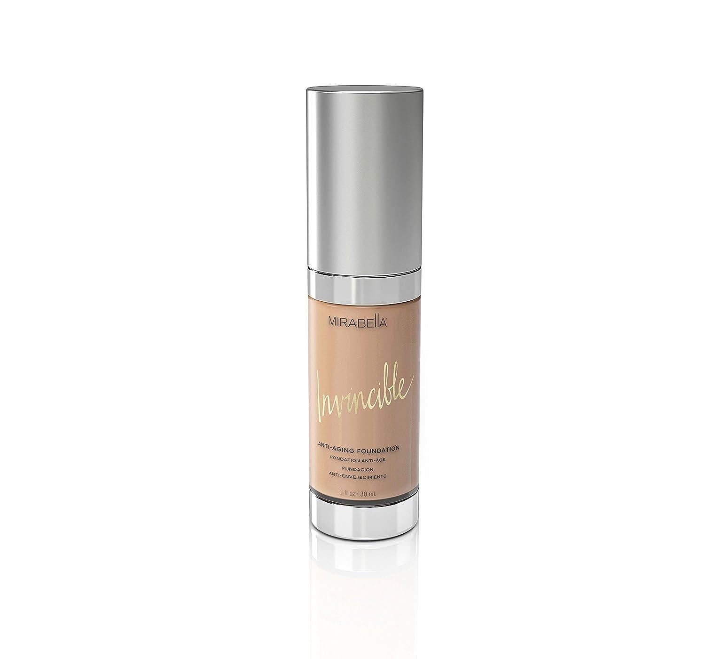 Mirabella Invincible Anti-Aging Full Coverage HD Liquid Foundation - Light (III), 1 fl.oz.