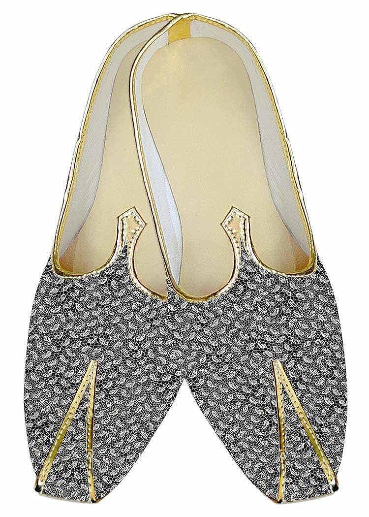 INMONARCH Hombres Zapatos de Boda Gris Paisley Buscar MJ013601 48.5 EU