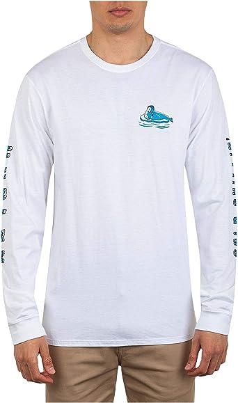 Hurley - Camiseta de manga larga para hombre - Blanco - Large: Amazon.es: Ropa y accesorios