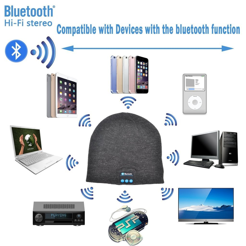 ZTE Blade V8 Pro Blue Unisex Winter Bluetooth Wireless Speaker Headphone
