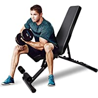 Antetek Adjustable Weight Bench,Utility Exercise Workout Bench Flat/Incline/Decline Bench Press for Home Gym, Easy…