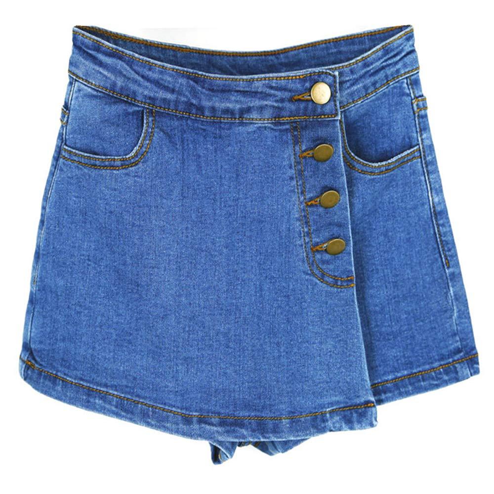 Pantalones Cortos para Mujer, elásticos, con Cremallera Vaquera ...