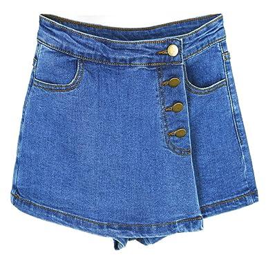 Pantalones Cortos para Mujer, elásticos, con Cremallera ...