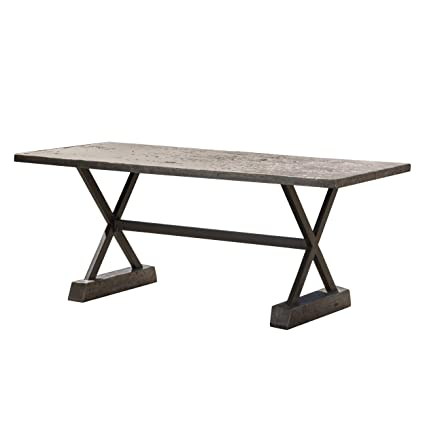 GDF Studio Lavelle Brown Magnesium Oxide Dining Table