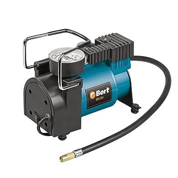 Bort BLK-255 compresor aire coche. 12 V, 25 litros/Minuto. Conector de encendedor de cigarrillos. Incluye 3 adaptadores suplementarios.