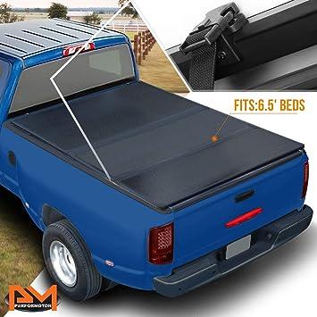 Amazon Com Hard Solid Tri Fold Tonneau Cover For Dodge Ram 1500 2500 3500 With 6 5ft Fleetside Bed 02 09 Automotive