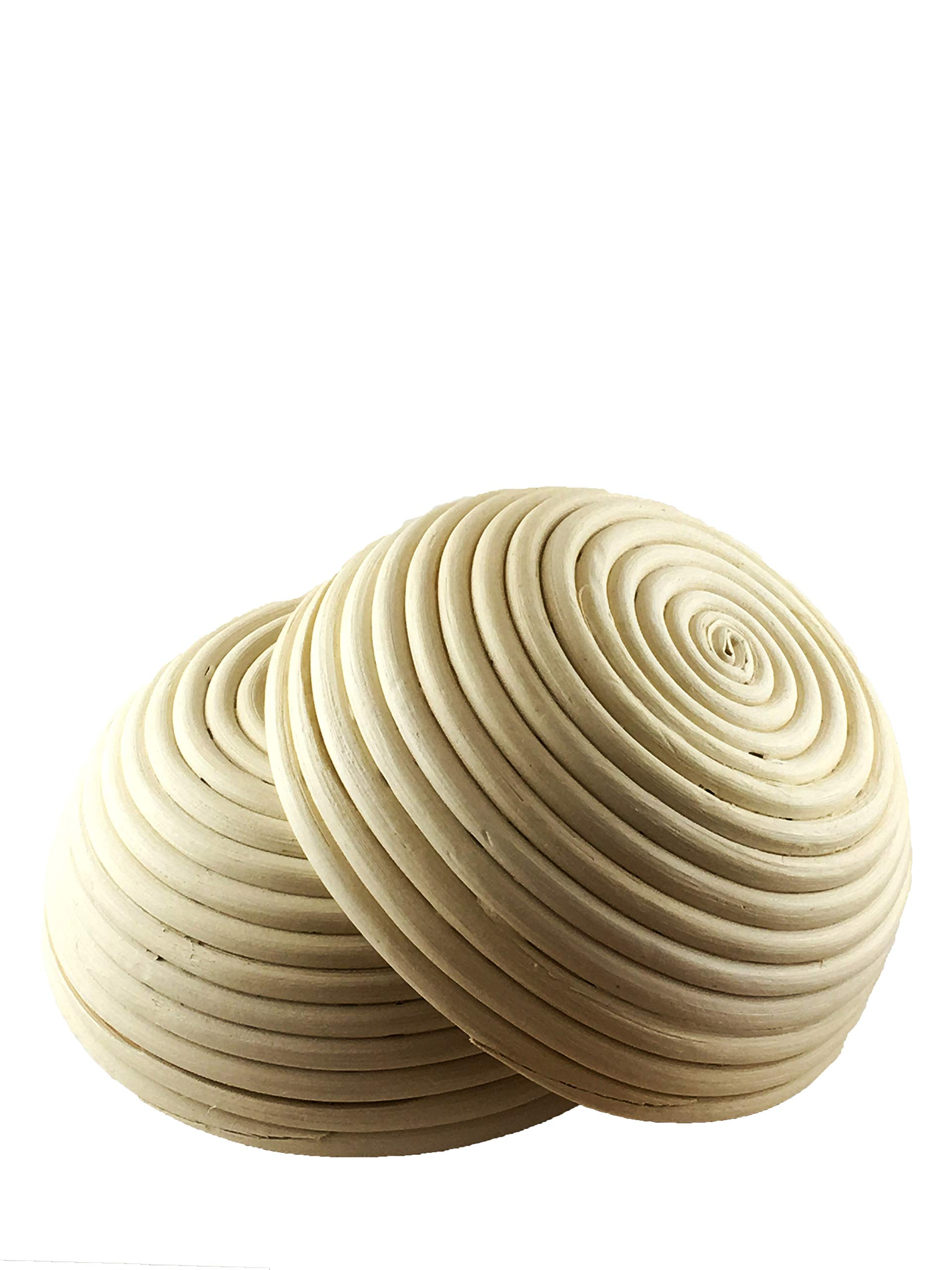 7 Inch Round Proofing Basket (Pack of 2) by Artisan Baking Co. Manufactured for professional made of rattan. Great for homemade sour dough bread (2) by Artisan Baking Co (Image #2)