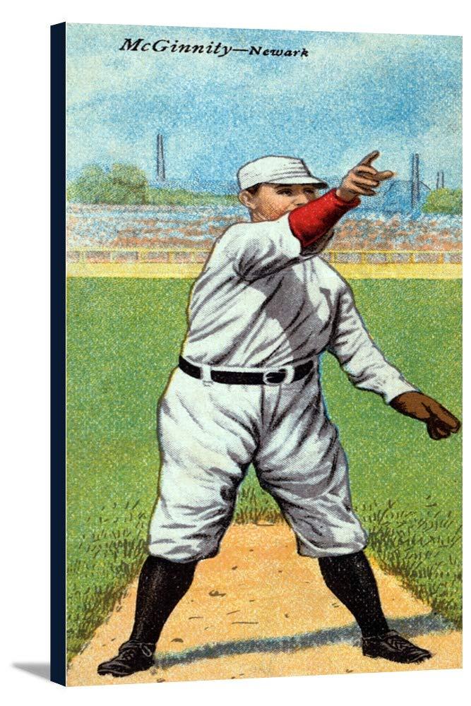Neward Eastern League – Joseph McGinnity – 野球カード 16 3/8 x 36 Gallery Canvas LANT-3P-SC-23458-24x36 B0184AIADQ  16 3/8 x 36 Gallery Canvas