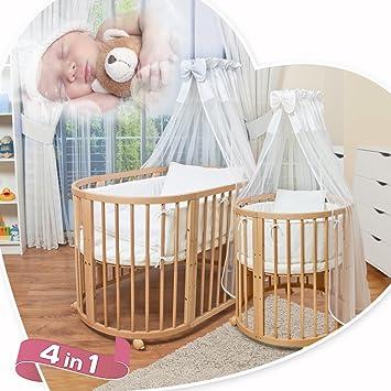 comfortbaby cuna para bebueacutes en de madera maciza incluye
