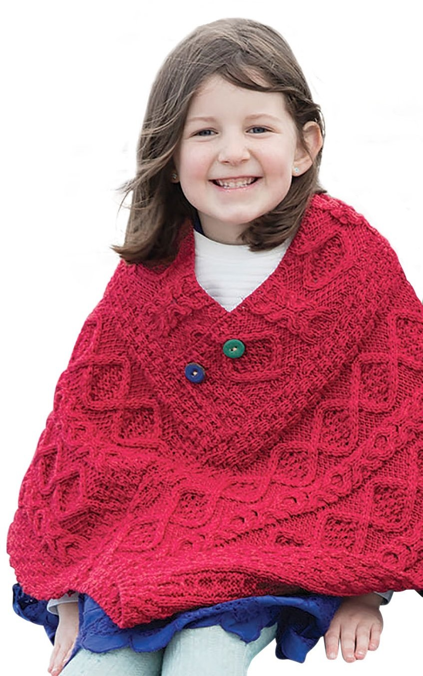 Irish Child's Wool Poncho Irish Child' s Wool Poncho B914