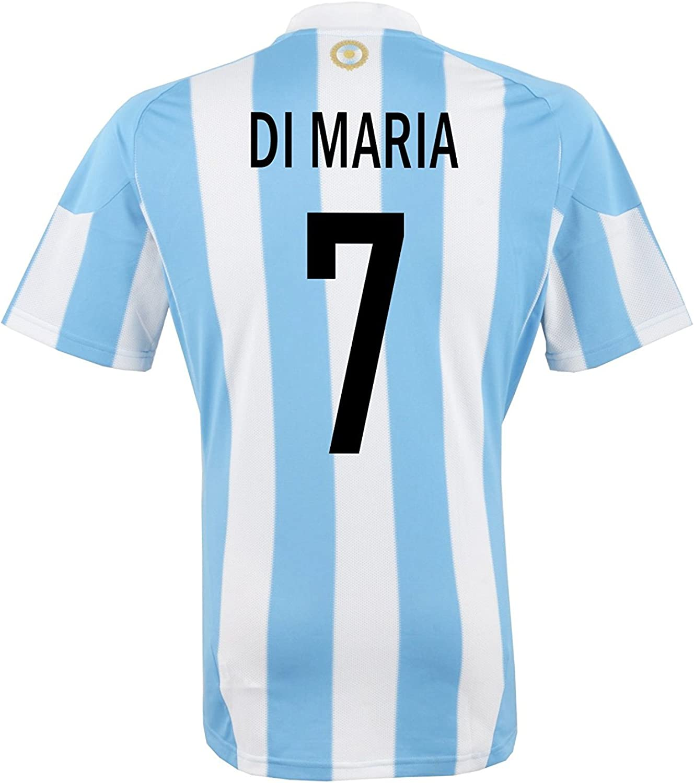 adidas Di Maria #7 Argentina Home Men's Soccer Jersey