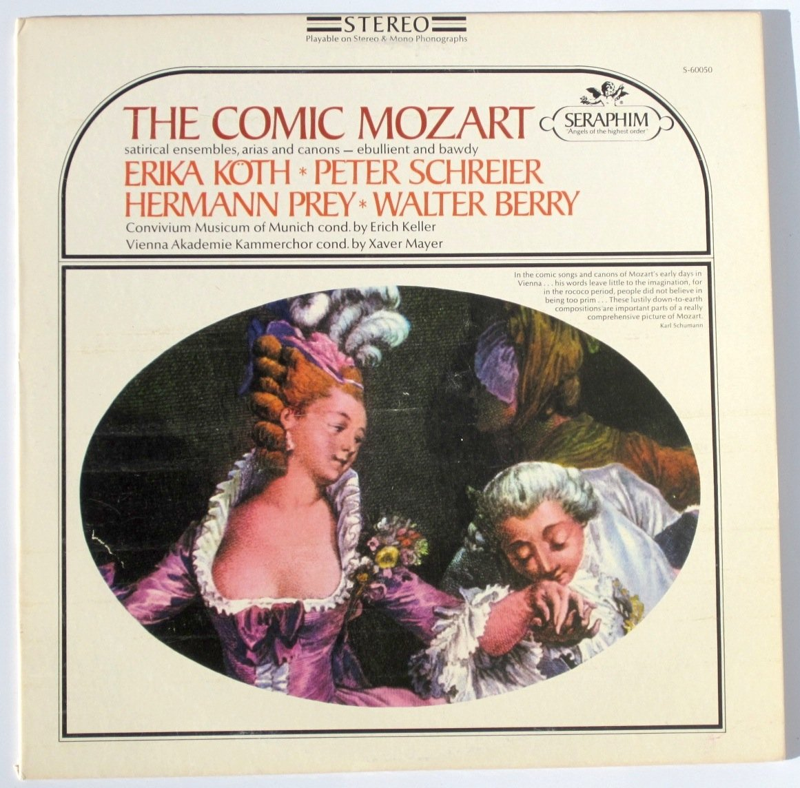 Mozart: The Comic Mozart, Satirical Ensembles, Arias And Canons by Seraphim