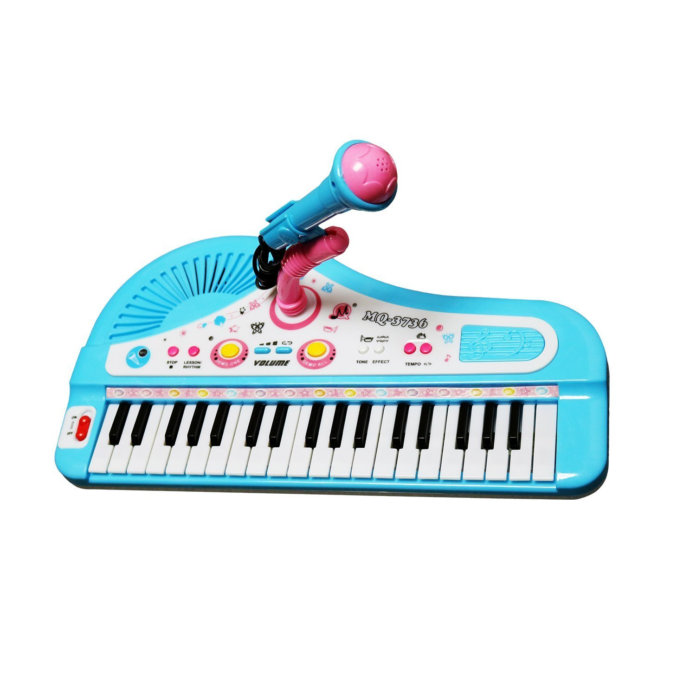 Shayson 37-tecla multifunción órgano teclado Piano electrónico con micrófono de juguete educativo para niños niños niños: Amazon.es: Juguetes y juegos