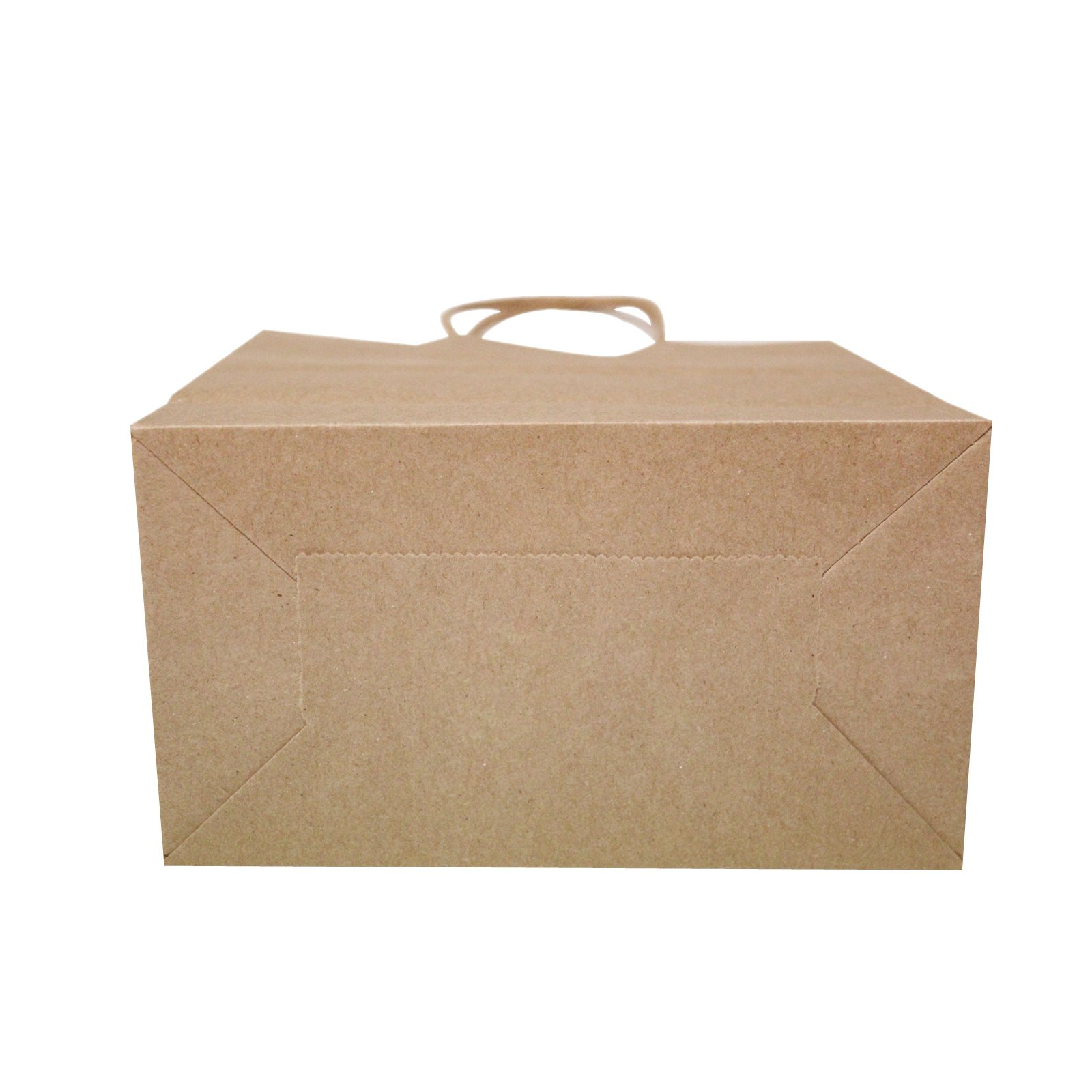 Flexicore Packaging 8''x4.75''x10''-100 Pcs-Brown Kraft Paper Shopping, Mechandise, Party, Gift Bags by Duro (Image #4)