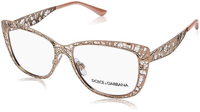 e9b31e1a34 Dolce & Gabbana 0Dg1287 Monturas de gafas, Pink Gold, 52 para Mujer ...