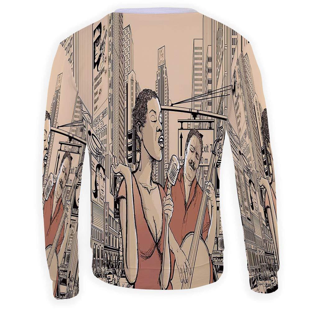 Mens Japanese Wave Crewneck Sweatshirt-Unisex