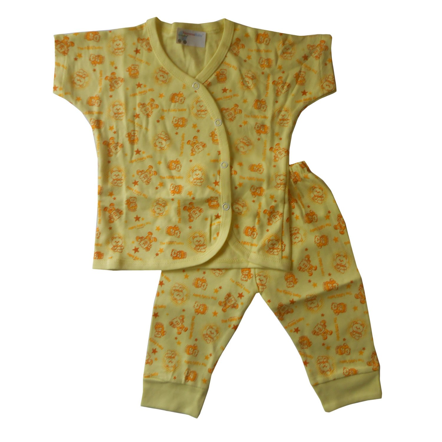 3fc5782d2 NammaBaby Half Sleeves Front Open T-Shirt and Ribbed Pants Set ...