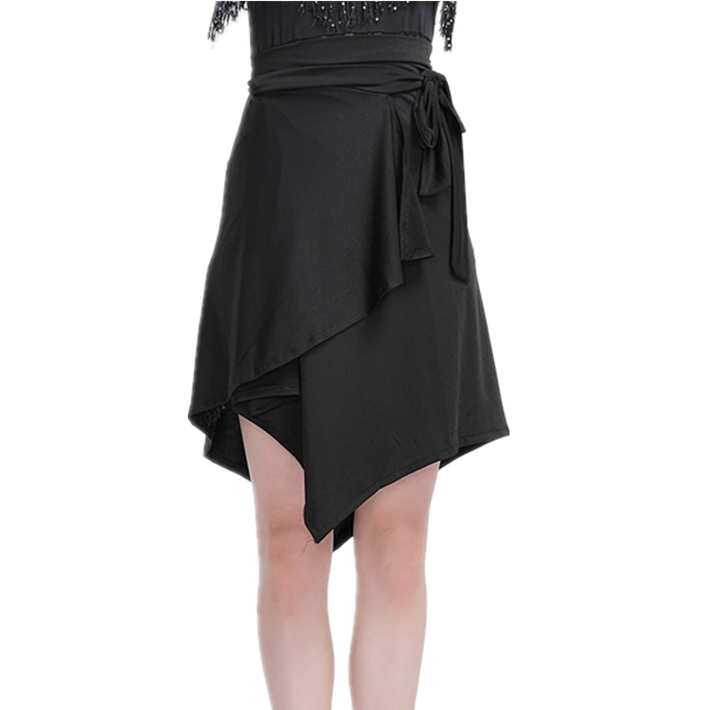 YOUMU Women Ballroom Latin Salsa Tango Dance Skirt Dress Skate Wrap Scarf Dancewear